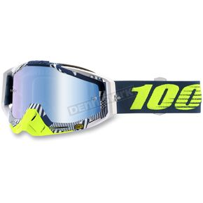 100% Racecraft Eclipse Goggles w/Mirror Blue Lens - 50110-224-02