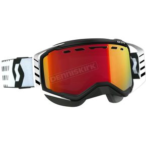 Scott Black/White Prospect Snowcross Goggles w/Amp Red Chrome Lens - 262581-1007312