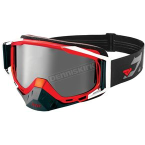 FXR Racing Black/Red/Charcoal Core Speed Goggles - 183118-1020-00