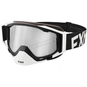 FXR Racing White/Black Core XPE Goggle w/Smoke Lens w/Platinum Silver Finish - 183102-0110-00