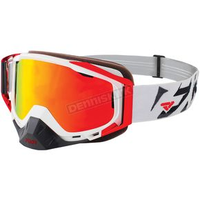 FXR Racing White/Red/Black Core XPE Goggle w/Smoke Lens with Solar Finish - 183102-0120-00