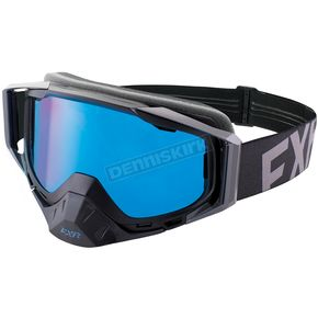 FXR Racing Black Ops Core XPE Goggle w/Smoke Lens w/Platinum Silver Finish - 183102-1010-00