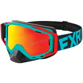 FXR Racing Mint/Red Core XPE Goggle w/Smoke Lens w/Solar Finish - 183102-5220-00