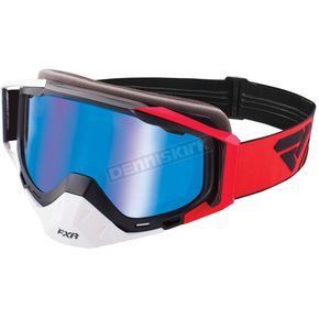 FXR Racing Red/White/Black Core XPE LE Goggle w/Crimson Lens w/Saphire Finish - 183109-2001-00