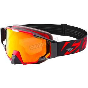 FXR Racing Black/Red Pilot Goggle - 183108-1020-00