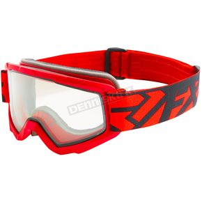 FXR Racing Red/Black Squadron Goggles - 183106-2010-00