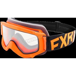 FXR Racing Youth Orange/Black/White Throttle Goggles - 183130-3010-00