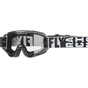 Fly Racing Black Zone Turret Goggles wChrome/Smoke Lens - 37-4060