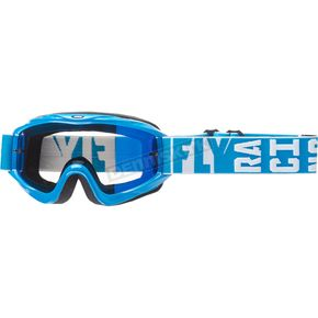 Fly Racing Blue Zone Turret Goggles w/Blue Mirror/Smoke Lens - 37-4061