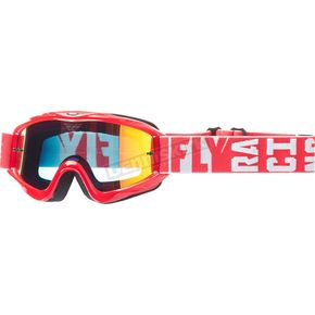 Fly Racing Red Zone Turret Goggles w/Fire Mirror/Smoke Lens - 37-4062