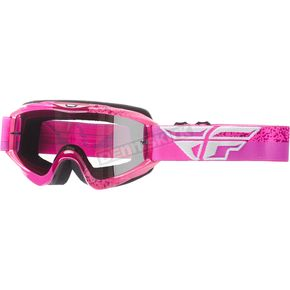 Fly Racing Youth Gray/Pink Zone Composite Goggles w/Chrome/Smoke Lens - 37-4052