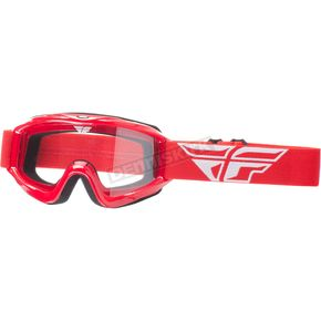Fly Racing Red Focus Goggles - 37-4002