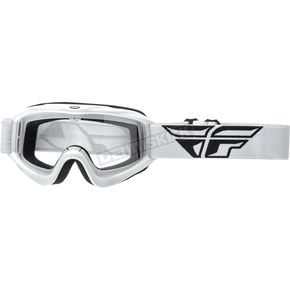 Fly Racing Youth White Focus Goggles - 37-4023
