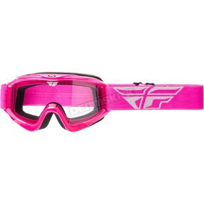 Fly Racing Youth Pink Focus Goggles - 37-4024