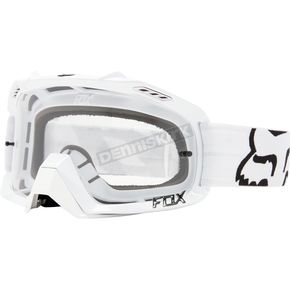 Fox White Air Defence Race Goggles - 14594-008-NS