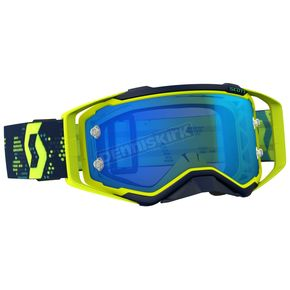 Scott Yellow/Blue Prospect Goggles w/Electric Blue Chrome Works Lens - 262589-1300278