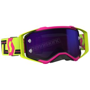Scott Pink/Yellow/Purple Prospect Goggles w/Purple Chrome Works Lens - 262589-5721281