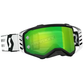 Scott Black/White Prospect Goggles w/Green Chrome Works Lens - 262589-1007279