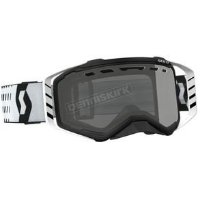 Scott Black/White Prospect Enduro Goggles w/Gray Lens - 26259-11007328