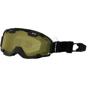 Matte Black 210 Tactical Goggles w/Yellow Controlled Ventilation Lens - 120067#