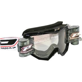 Black 3201 MX/Enduro Goggles w/Roll-Off System - 3201RONE