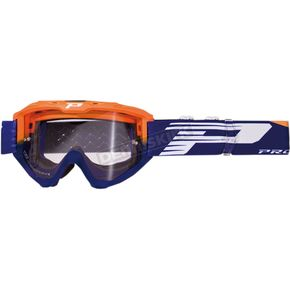 Fluorescent Orange/Blue 3450 Riot Goggles w/Light Sensitive Lens - PZ3450AFBL