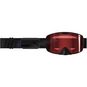 Black Kingpin Ignite Heated Goggles w/Rose Tint Lens - F02001400000-005