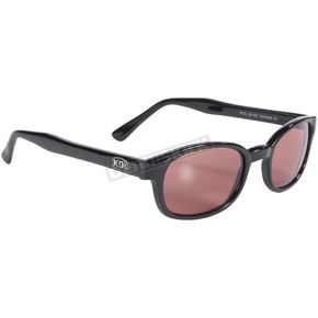 Black Sunglasses w/Rose Lens - 20120