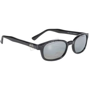 Black X-KDs Sunglasses w/Silver Mirror Lens - 11010