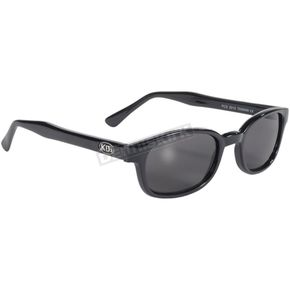 Black X-KDs Sunglasses w/Smoke Lens - 1010