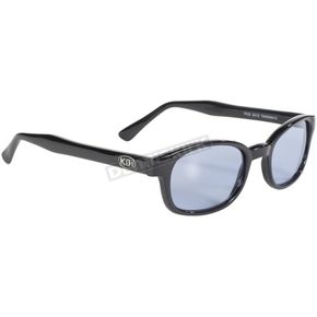Black X-KDs Sunglasses w/Light Blue Lens - 1012