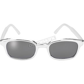 Chrome Sunglasses w/Clear Mirror Lens - 20114