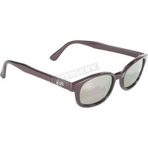 Flash Metallic Wine Sunglasses w/Gold Mirror Lens - 20117