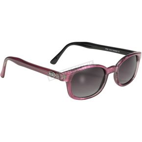 Purple Haze Pearl Sunglasses w/Gray Fade Lens - 2116