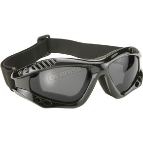 Black Turbo Goggles w/Smoke Lens - 4001