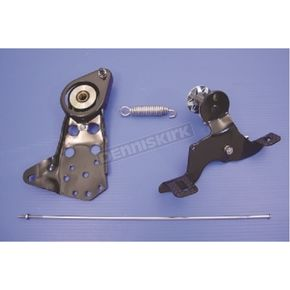 Black Rocker Clutch Pedal Assembly for H-D EL, FL and UL Models - 22-1016