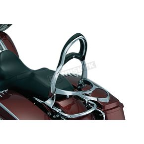 Kuryakyn Backrest w/Fold-Down Luggage Rack - 1606