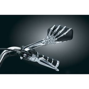 Chrome Skeleton Hand Mirrors - 1759