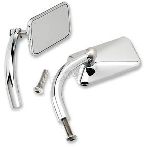 Chrome Rectangular Perch Mounted Utility Mirror - UP-REC-HD-CP