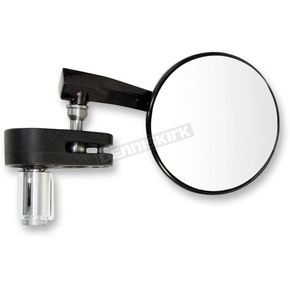 Emgo Black 3 in. Right Hand Bar End Mirror - 20-34041