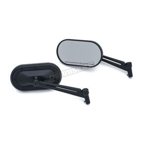 Kuryakyn Satin Black Heavy Industry Mirrors - 1737