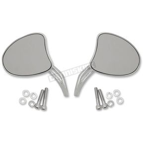 Drag Specialties Tapered Mirrors w/Short Slotted Stems - 0640-1097