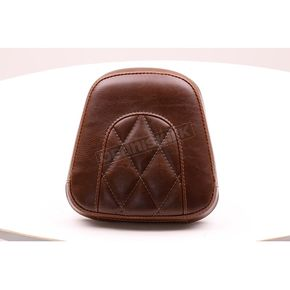 Mustang Seats Distressed Brown Diamond-Stitch Sissy Bar Pad - 76759