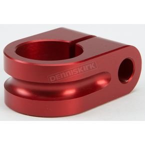 Rooke Customs Red 7/8 in. Milled Mirror Mount - R-MM875-M7