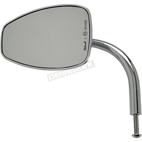 Chrome 5 1/2 in. Teardrop Perch Mounted Utility Mirror - 6504-400-531