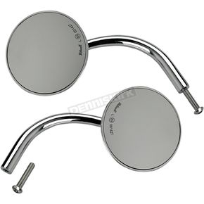 Chrome 3 3/4 in. Round Perch Mounted Utility Mirror - 6503-400-532