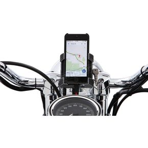 Ciro Smartphone/GPS Holder w/Chrome 7/8 - 1 in. Bar Mount - 50212