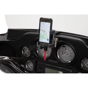 Black Fairing Mount Smartphone/GPS holder - 50217