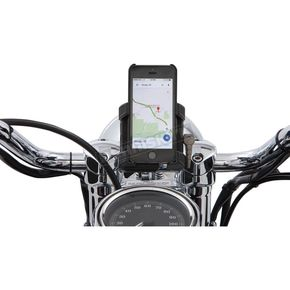 Ciro Smartphone/GPS Holder w/Black 7/8 - 1 in. Bar Mount - 50313