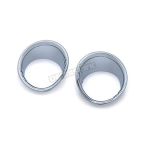Chrome Tri-Line Fuel & Voltage Gauge Bezels - 6922